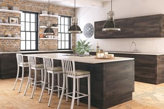 Contemporary J Handle Kitchen Doors