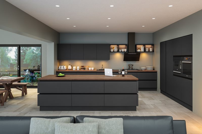 Zurfiz Supermatt Plain Slab Kitchen Doors